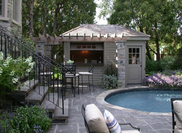 Artistic gardens award winning toronto landscaping for Garden pool sheds